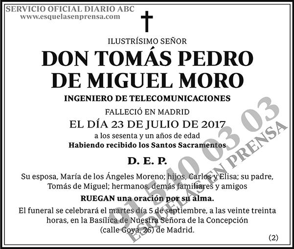 Tomás Pedro de Miguel Moro